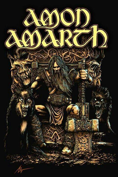Dann wär da natürlich noch Amon Amarth. Das verdanke ich meinem Bassisten, wie nahezu meine gesamte Entwicklung in den Metal.