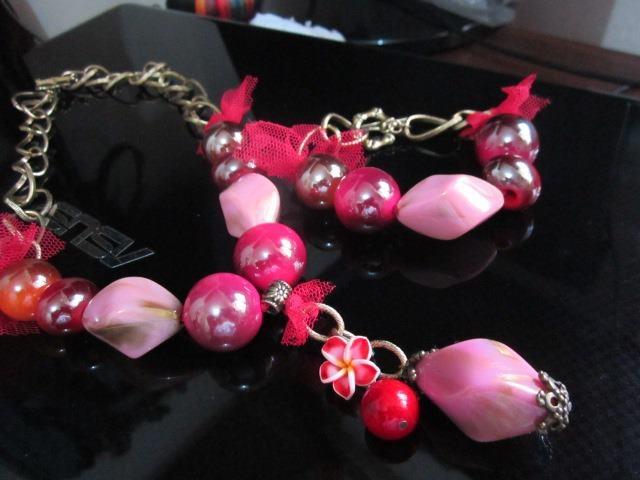 handmade chunky necklace and bracelet