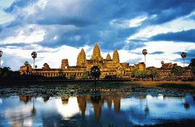 Angkor Wat-Cambodia,the largest Hindu temple in the world was assembled it the 12th century by the lord of Khmer Empire and today it is the most vast religious perplexing in the globe (it involves zone of around 500 sections of land). This Hindu complex committed to Vishnu is surrounded by very nearly 200 meters wide canal.