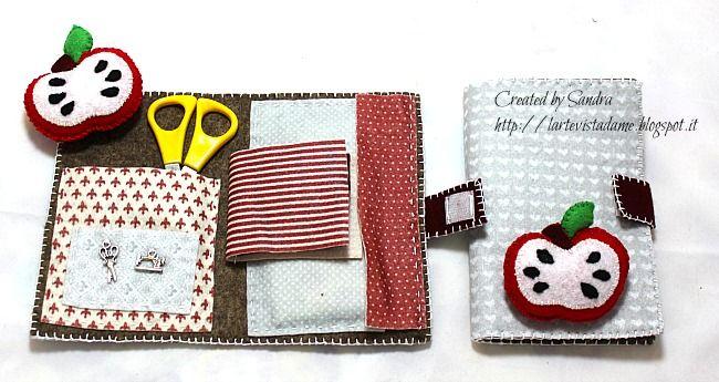 Kit da cucito in feltro con puntaspilli – idea regalo maestre | l'arte vista da me