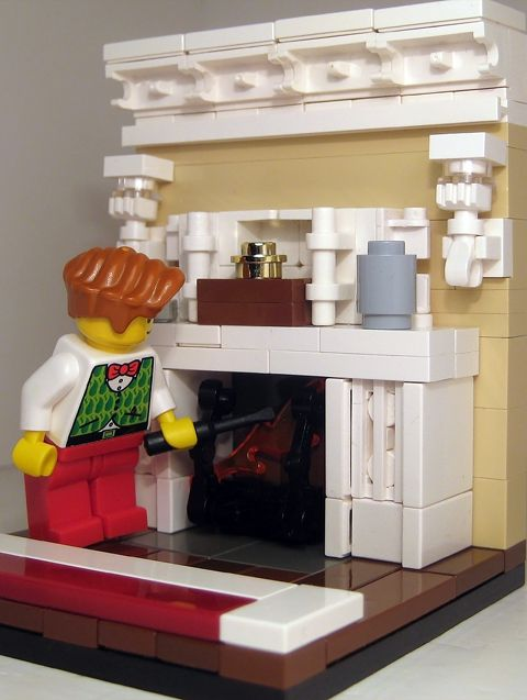 Fireplace MOC #fireplace #moc #interior Part 59