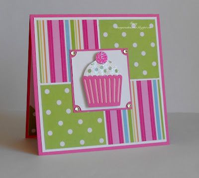 Cute cupcake card to try with SU products (this done w/Cricket). Her site has some other ideas to try, also w/SU products.