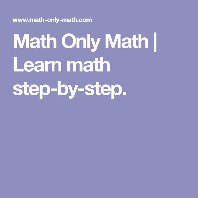 Math Only Math | Learn math step-by-step.