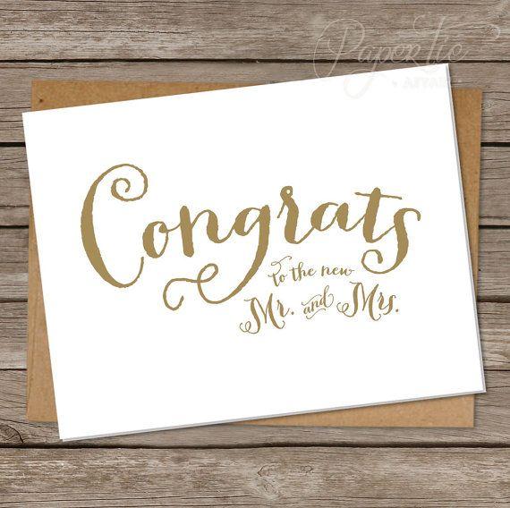 Wedding Congrats: De 25+ Bästa Idéerna Om Wedding Congratulations