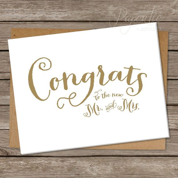 ... Wedding Congratulations Card on Pinterest Wedding cards, Diy wedding