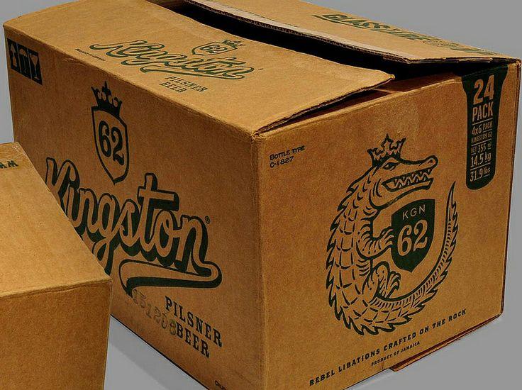 Kingston logo/emblem for the jamaican beer, Kingston 62, by Ricardo Cunha Lima. Graphic design: Marcos Leme.