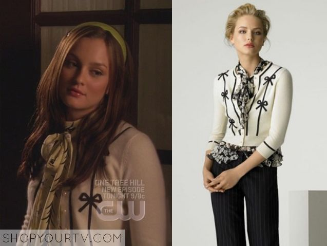 Gossip Girl: Season 2 Episode 5 Blairs White Bow Cardigan