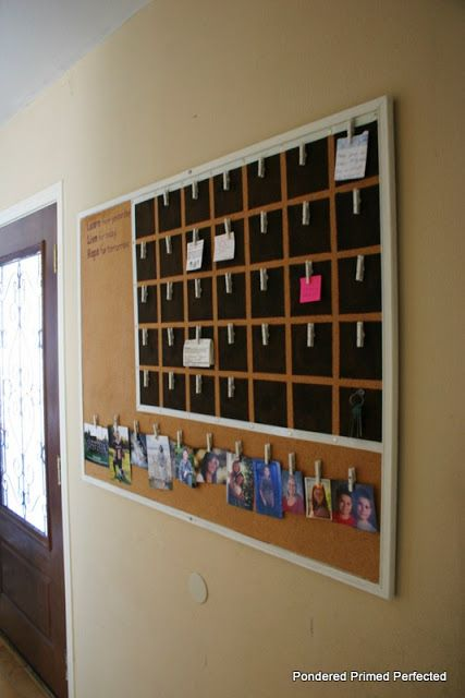 Chalkboard/corkboard calendar @ Inspiration Cafe