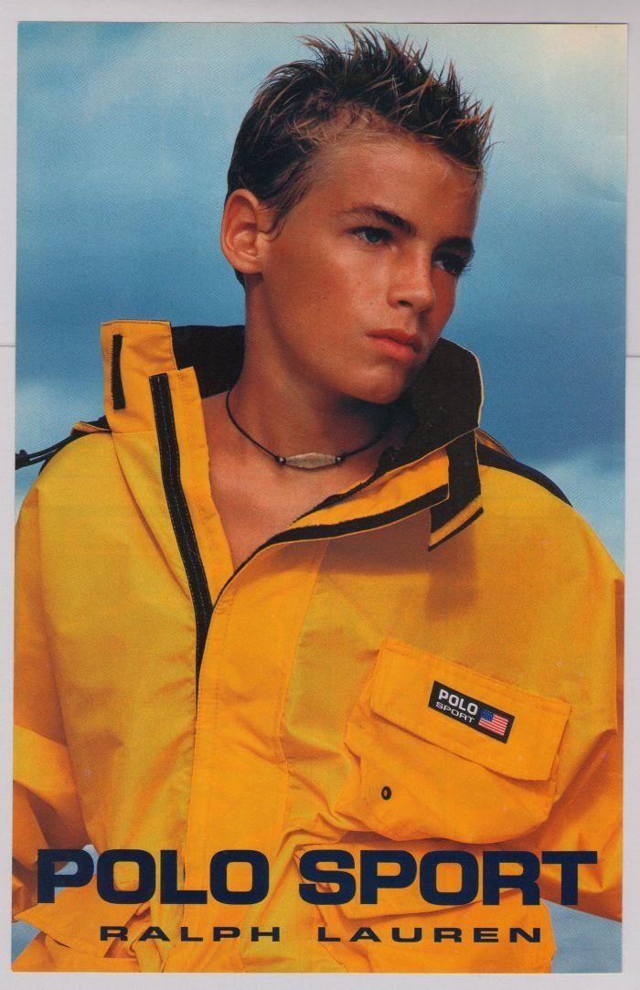 POLO SPORT Ralph Lauren '90s PRINT AD boy fashion advertisement yellow jacket 1997   #RalphLauren #fashion