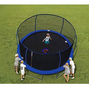 BouncePro 14' Trampoline and Enclosure with Spinner Flash Litez...Mema is buying for Ethan's 10th