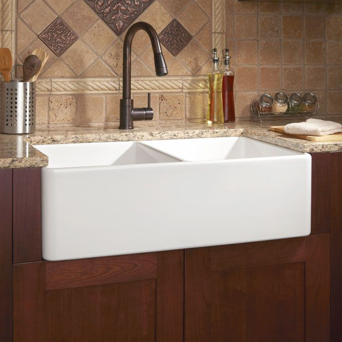 A sink to make the chef--and the person cleaning up--quite merry. The Reinhard Double Bowl Fireclay Farmhouse Sink.