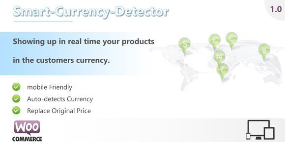 Great Smart Currency Detector-WooCommerce theme CreativeWork247 - Fonts, Graphics, The...
