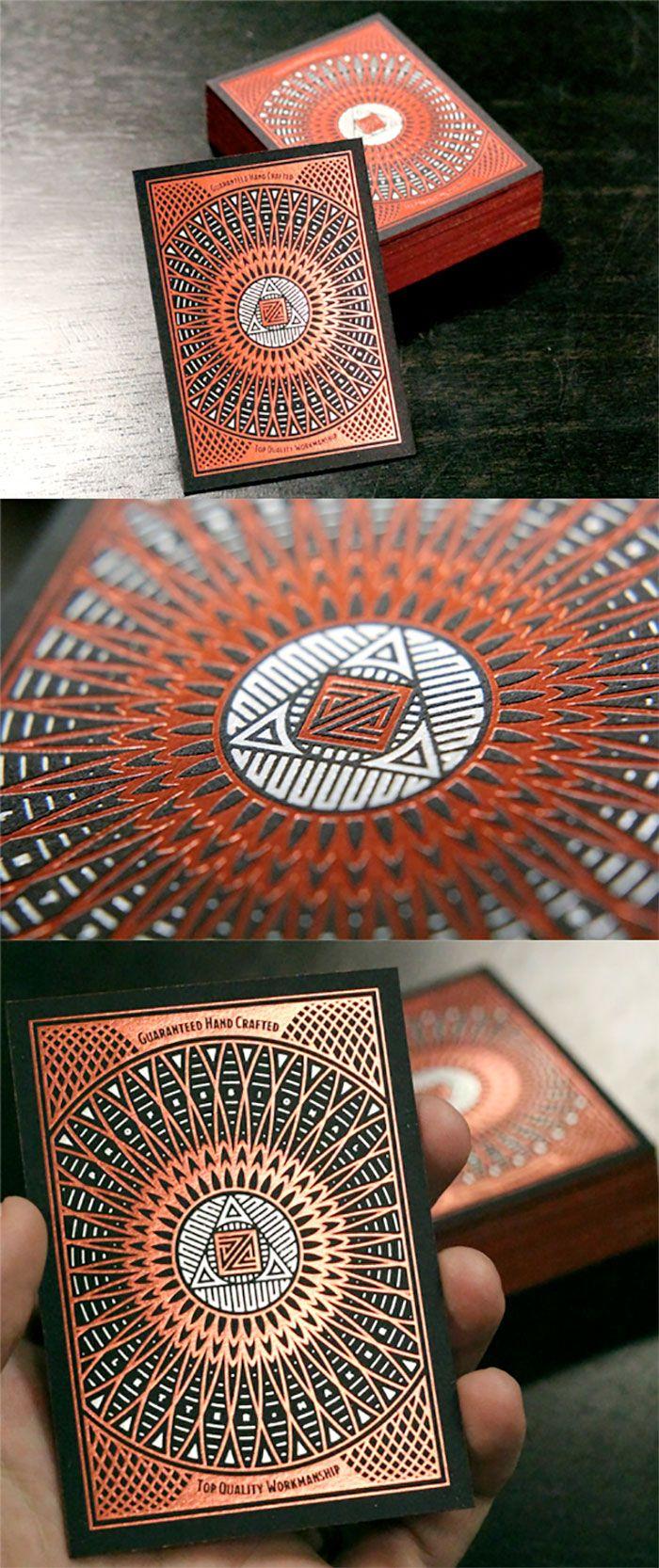 Foil stamped business card #design