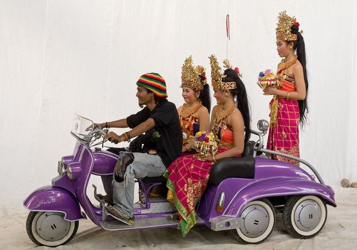 Island Vespa princesses and driver.
