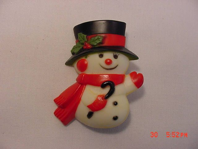 Vintage 1977 hallmark Cards Inc. Christmas Snowman Pin Or Brooch  17 - 738 by HardlyAbleStable on Etsy