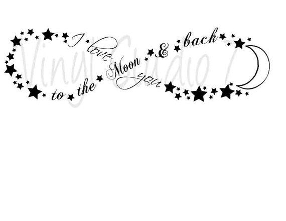 I love you to the Moon & Back infinity sign by vinylstudio77