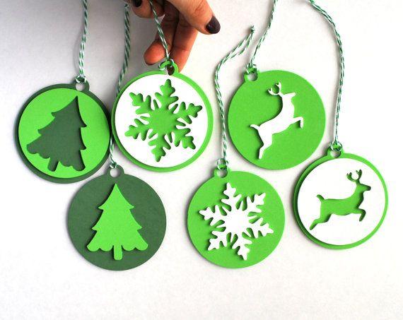 6 Foam Christmas Ornaments Christmas tags Original by Mariapalito,