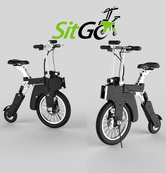 http://www.sitgobike.com  SITGO -The World's Best Electric Folding Bike, specially designed for you, environmentally friendly, cool, compact, safe and unique: The world's first electric bicycle can be charged with car cigarette lighter.