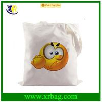 Angry Face Emoji Canvas Fabric Shopping Foldable Reusable Recycled Grocery Bags…