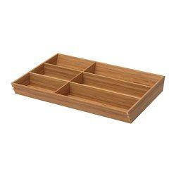 """VARIERA Flatware tray - IKEA. Width: 11 ¾ """" Frame, width: 15 """" Depth: 19 ¾ """" Height: 2 1/8 """""""