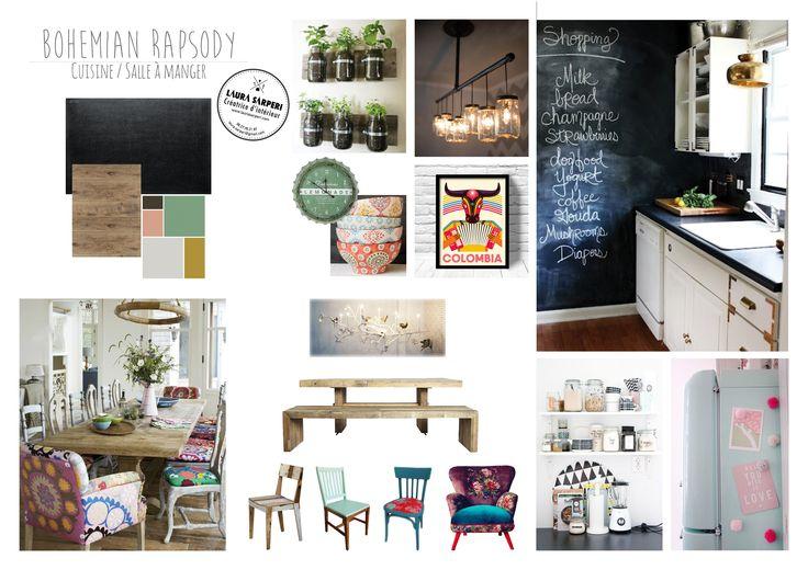 planche d 39 ambiance pour une cuisine boh me recup bois. Black Bedroom Furniture Sets. Home Design Ideas