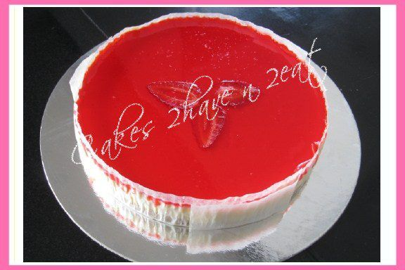 CHEESE CAKE YUMMY! BEATIFULLY DECORATED WITH STRAWBERRIES!