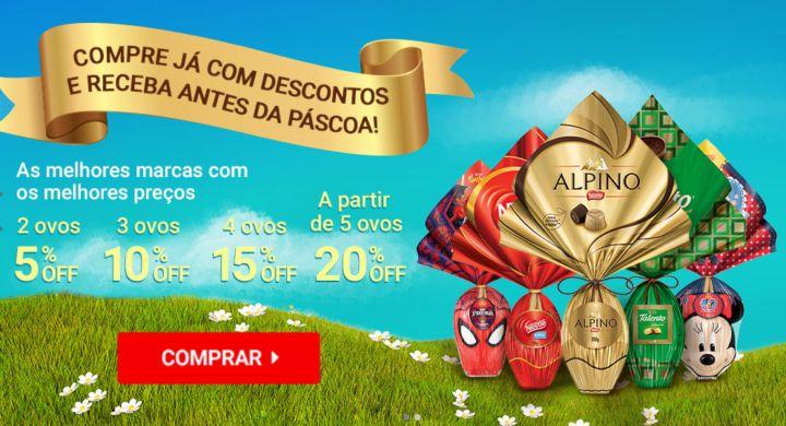 Site da Nestlé vende ovos de Páscoa com descontos gradativos