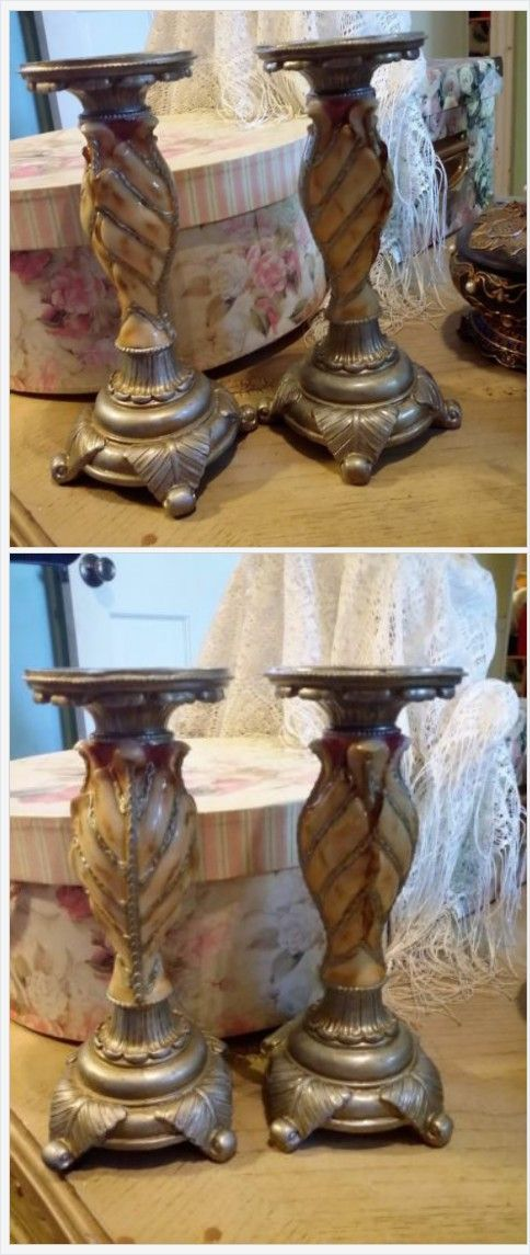 Gorgeous Antique Candle Holders Set Decorative Mediterranean Candles Decor | eBay http://www.ebay.com/itm/Gorgeous-Antique-Candle-Holders-Set-Decorative-Mediterranean-Candles-Decor-/232315719043