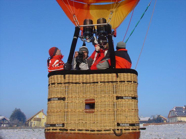 Start zimního letu balónem
