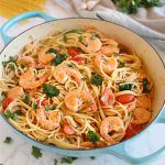 Easy Healthy Shrimp Scampi - The Busy Baker