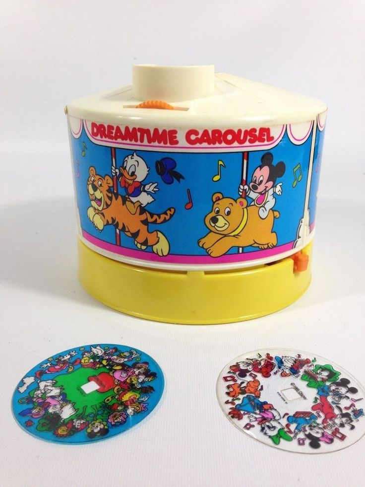 Vintage Disney Dream Time Carousel Music Box Ceiling Projector Baby Sleep Toy  #Disney