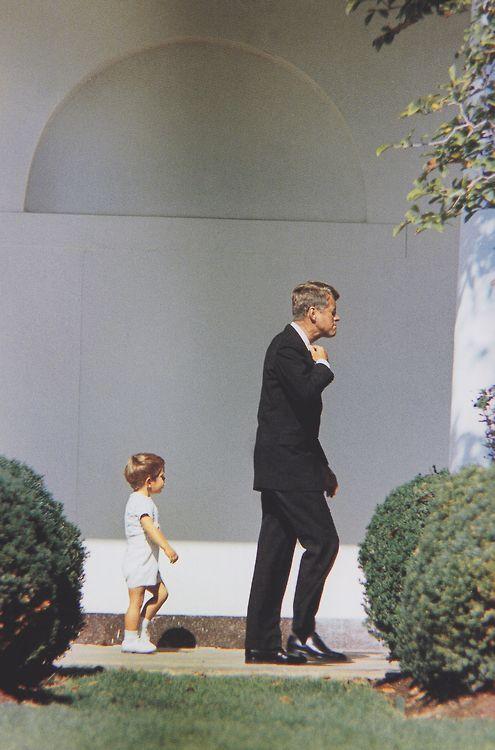 John F. Kennedy and John F. Kennedy Jr., 1963.