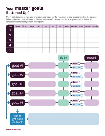 Free Goals Printable For Keeping Track Of Your New Year S Resolutio