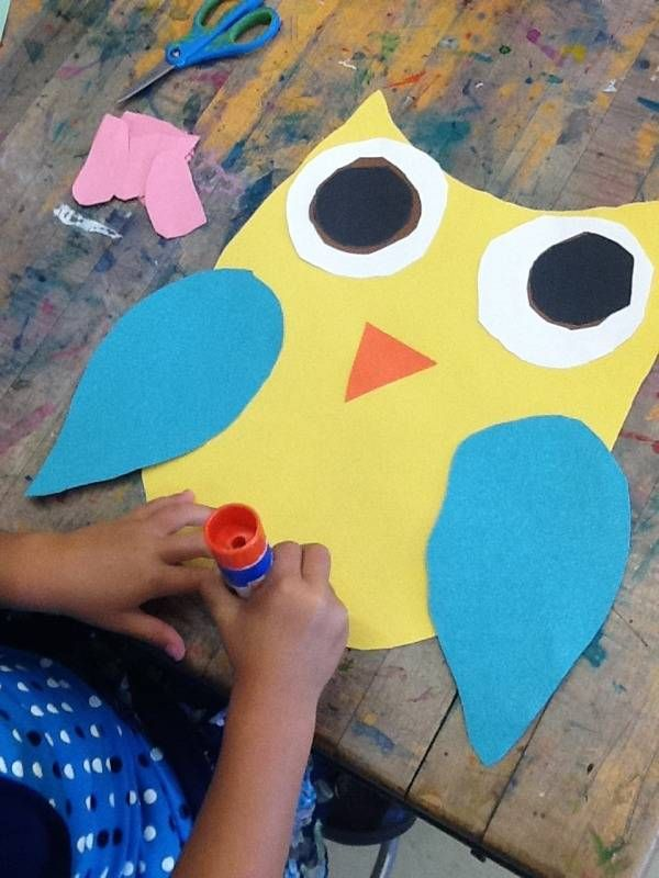 'kindergarten paper owls' @Georgia Geaney Friday art project?
