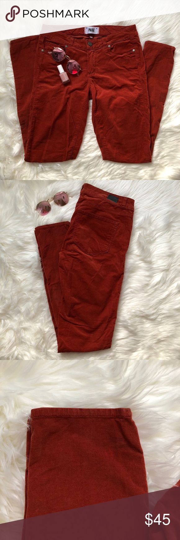 """Paige   burnt orange skinny jeans Paige 'verdugo ultra skinny"""" pants in burnt orange. Super soft material - made to look like corduroy pants. Perfect color for fall!!! Size 27. No faults or imperfections. PAIGE Pants Skinny"""