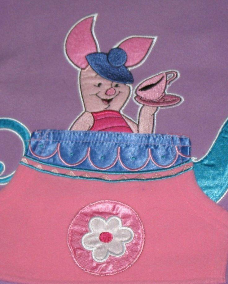 JUST REDUCED: Disney Winnie the Pooh's PIGLET Purple Fleece Hoody Girls Size 3X. #piglet #winniethepooh $14.95 #ck