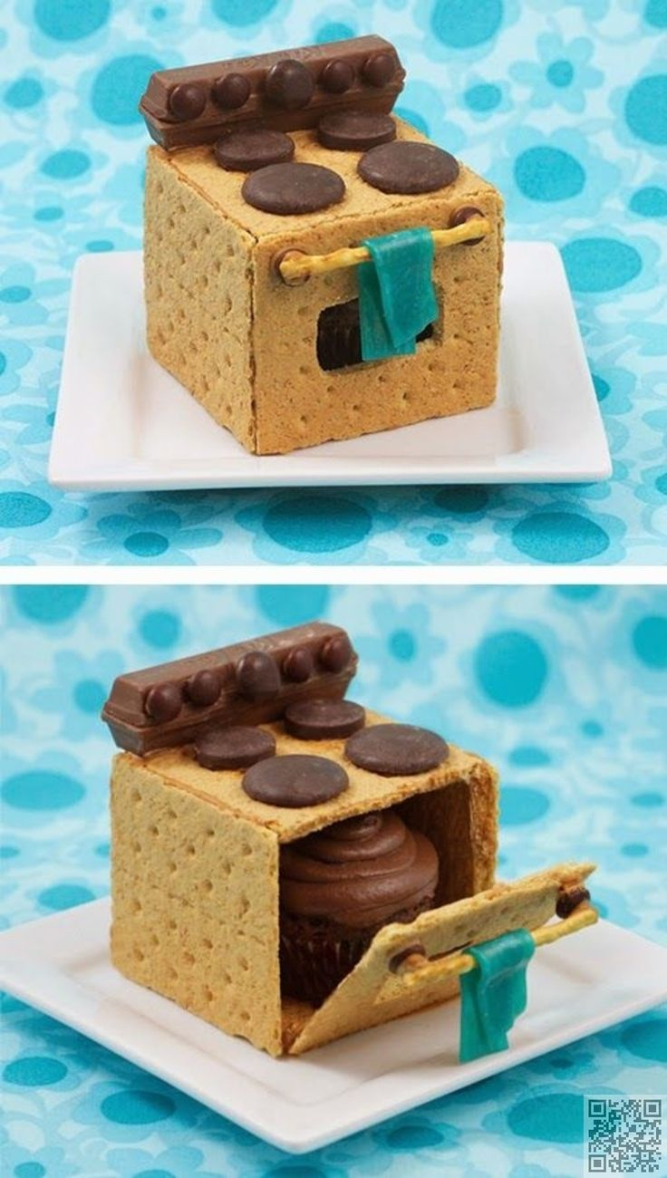 4. #Graham Cracker #Cookies with a Cupcake #Surprise inside - Oh Wow! Wait 'Til You See the Surprise #inside These #Cakes ... → Food #Recipe