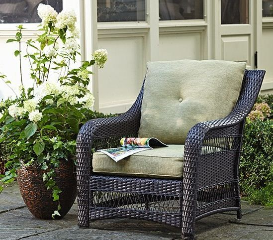 The CANVAS Emerson Armchair fits perfectly on any #patio! #MyCANVAS [Promotional Pin]