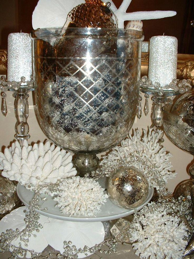 196 Best Mercury Glass Images On Pinterest Christmas