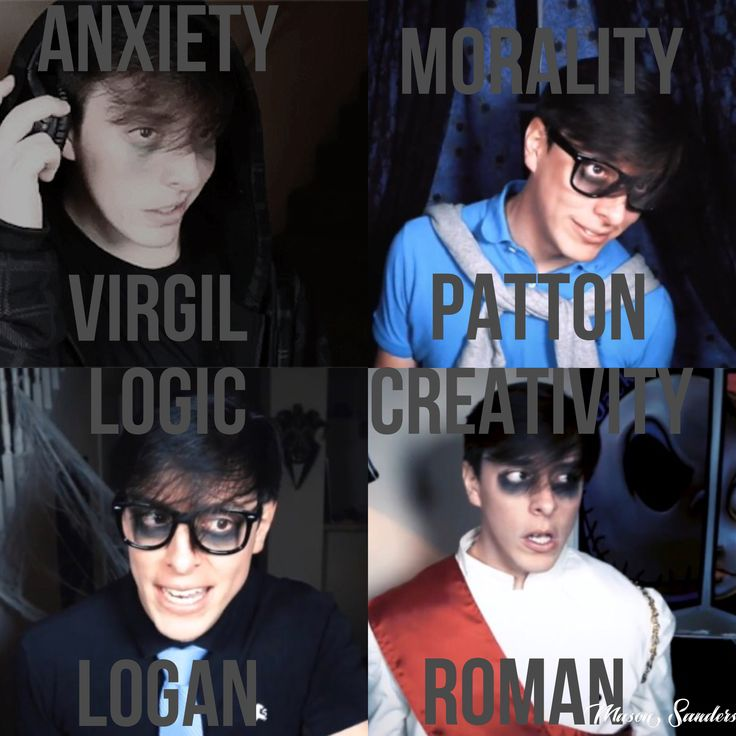 I watched it yesterday. Anxiety gave up his name. Anxiety's name is: Virgil. Thomas Sanders