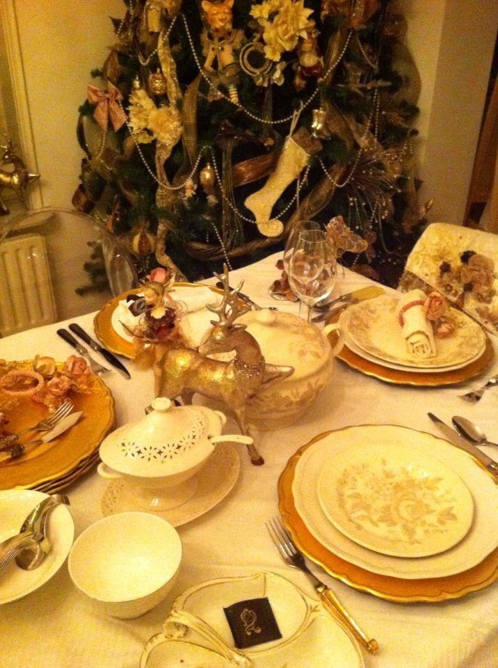 Christmas diner table