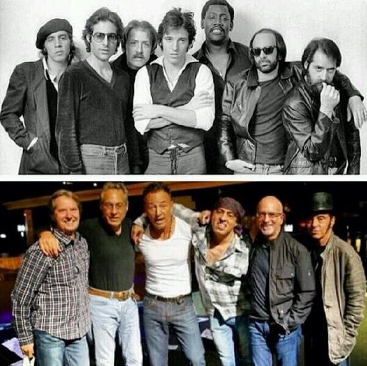 Bruce/E-Street band  before and now