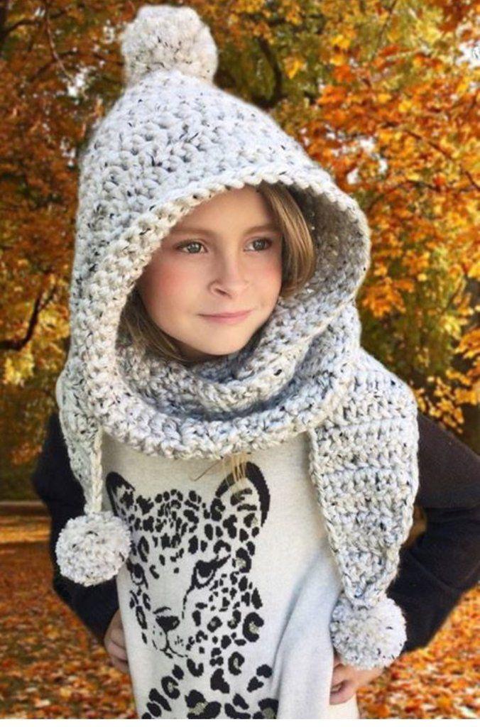 Pattern for purchase Hooded Scarf Crochet Pattern - Chloe Hood