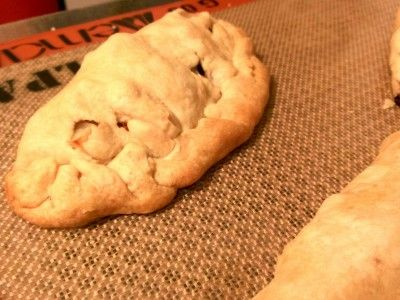 Michigan Meat Pasty baked on the Silpat