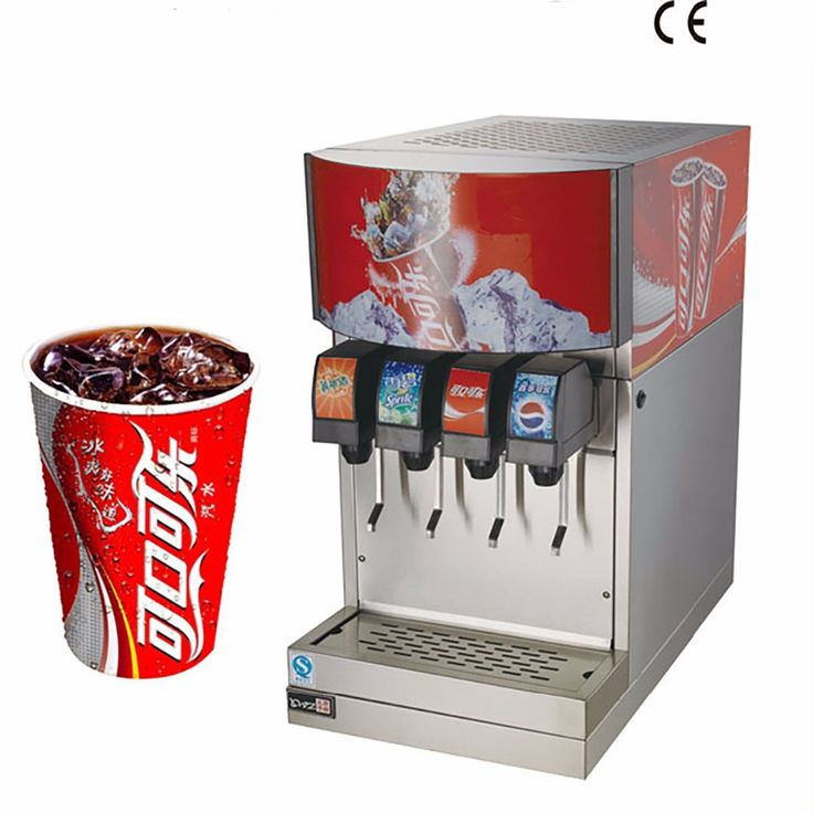 Commercial Electric 4-Flavor Ice and Beverage System Soda Fountain Dispenser Machine