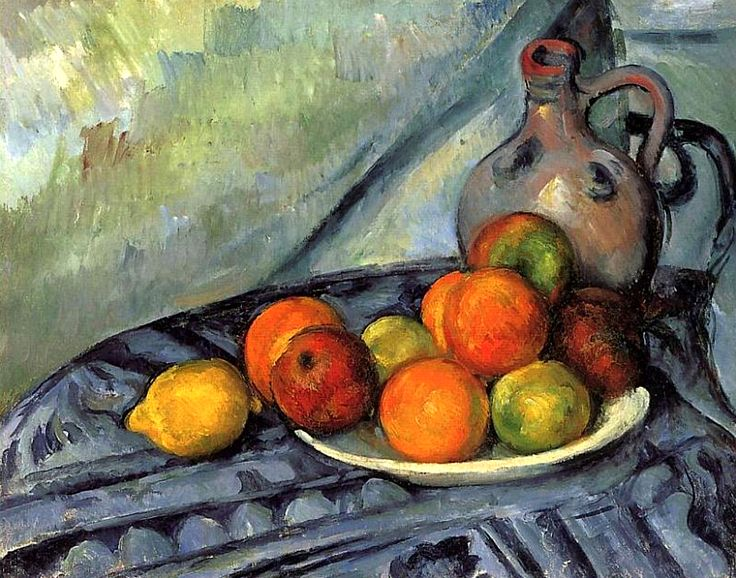 Fruit and Jug on a Table Paul Cezanne - 1893-1894