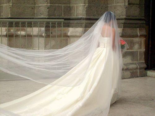 How to Make a Cathedral Wedding Veil -- via wikiHow.com