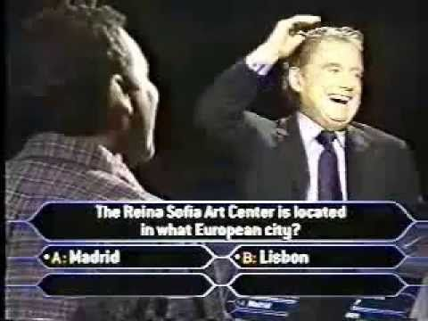 Norm MacDonald on Celebrity Who Wants To Be A Millionaire in 2000. He does very well, getting to the last question (and insulting Regis along the way), but is involved in a controversial decision on the final question.