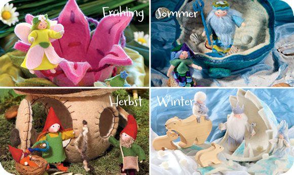 Frühling, Sommer, Herbst, Winter - Jahreszeitentisch
