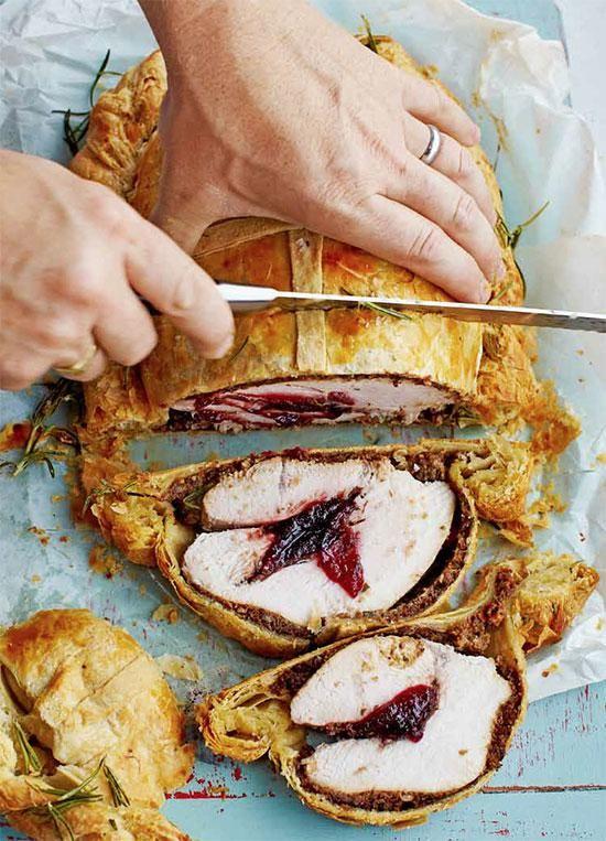 Truthahn Wellington by Jamie Oliver als Hauptgang für ein weihnachtliches Festmahl